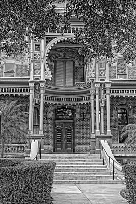 Photograph - Henry B. Plant Museum Entry Bw by HH Photography of Florida