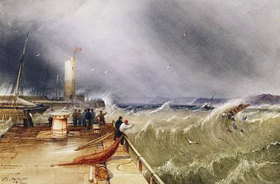 Henry Barlow Carter 1795-1867 Loss Of The Scarborough Lifeboat 24 May 1836 Art Print