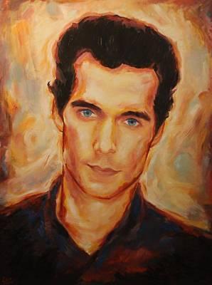 Christopher Nolan Painting - Henry Cavill by Caleb Thomas