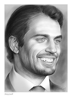 League Drawing - Henry Cavill by Greg Joens