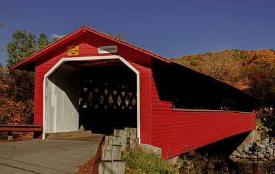 Photograph - Henry Covered Bridge, Bennington Vermont by Tim Bryan