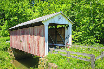 Music Royalty-Free and Rights-Managed Images - Henry Covered Bridge by Jack R Perry