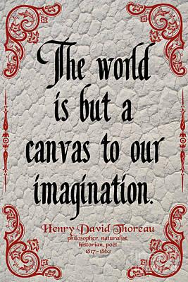 Henry David Thoreau About Imagination Art Print