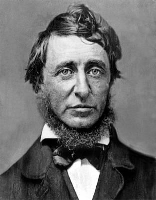 Photograph - Henry David Thoreau by Everett