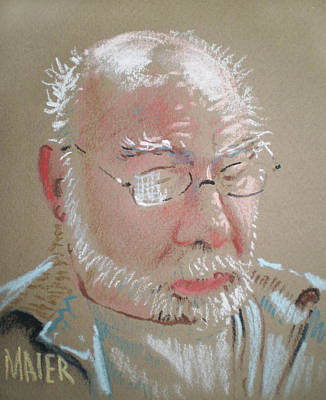 Pastel Portrait Drawing - Henry by Donald Maier