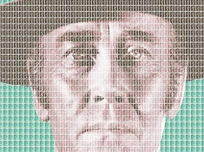 Sergio Leone Digital Art - Henry Fonda - Blue by Gary Hogben