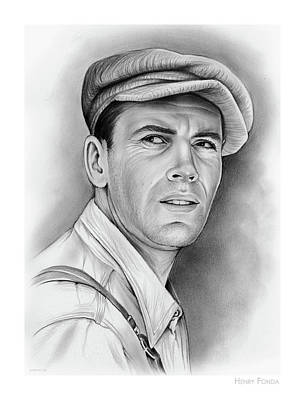 Grape Drawing - Henry Fonda by Greg Joens