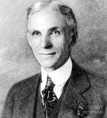 Henry Ford, Inventor By Js Art Print