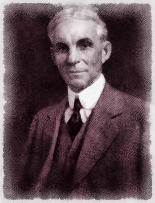 Inventor Painting - Henry Ford, Inventor by John Springfield