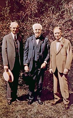 Jt History Photograph - Henry Ford, Thomas Alva Edison, Harvey by Everett