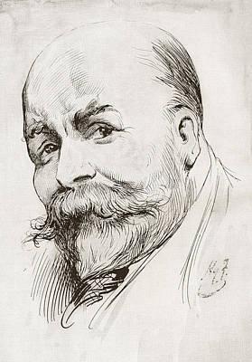 Self-portrait Drawing - Henry Harry Furniss, 1854 - 1925. Irish by Vintage Design Pics