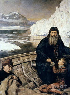 Henry Hudson And Son Art Print by Granger