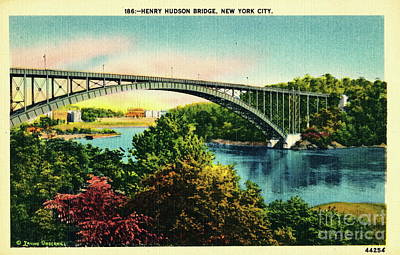 Photograph - Henry Hudson Bridge Postcard by Cole Thompson