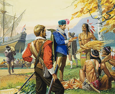 Traders Painting - Henry Hudson by Severino Baraldi