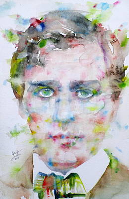 Henry James - Watercolor Portrait.1 Original by Fabrizio Cassetta