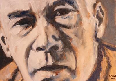 Painting - Henry Miller Portrait by Christel Roelandt