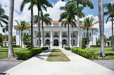 Photograph - Henry Morrison Flagler Mansion by John Black