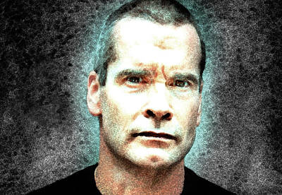 Henry Rollins - The Rollins Stare  Art Print by Enki Art