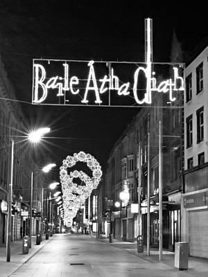 Night Photograph - Henry Street At Christmas - Dublin by Barry O Carroll