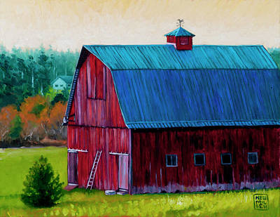 Painting - Henry Strong Barn Circa 1928 by Stacey Neumiller