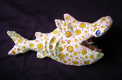 Mixed Media - Henry The Hammerhead by Dan Townsend