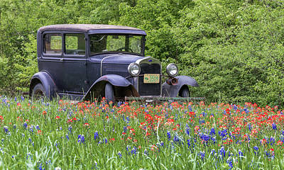 Art Print featuring the photograph Henry The Vintage Model T Ford Automobile by Robert Bellomy