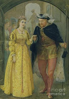 Jewelry Painting - Henry Viii And Anne Boleyn  by Arthur Hopkins