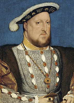 Painting - Henry Viii - Hans Holbein The Younger by War Is Hell Store