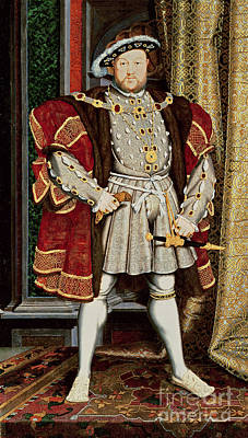 Ruler Painting - Henry Viii by Hans Holbein the Younger