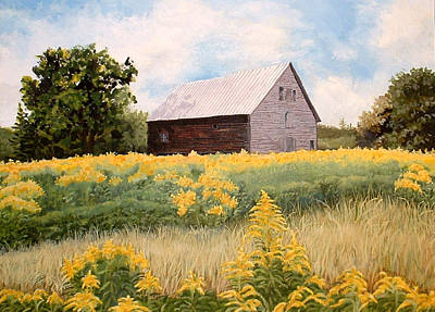 Painting - Henry's Barn by Carole Rickards