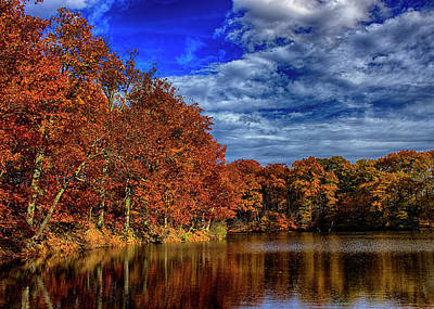 Photograph - Henry's Pond Autumn Color by Ron Grafe
