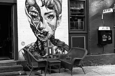 Hepburn On Mulberry Street Print by John Rizzuto