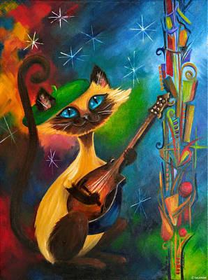 Painting - Hepcat Meowndolin by Brenda Salamone