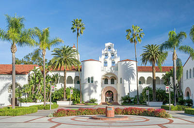 Design Turnpike Books Rights Managed Images - Hepner Hall on the Campus of San Diego State University Royalty-Free Image by Ken Wolter