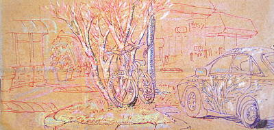 Mixed Media - Her Car by Radical Reconstruction Fine Art Featuring Nancy Wood