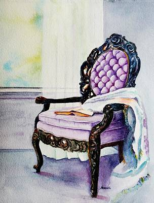 Painting - Her Chair by Kathy Nesseth