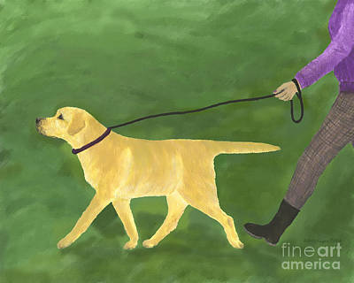 Painting - Her Dog Took Her Everywhere by Amy Reges