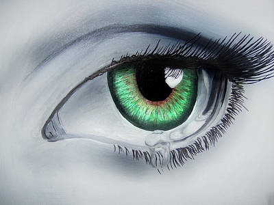 Painting - Her Eye by Michael McKenzie