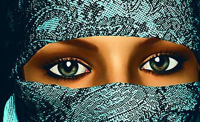 Soul Searching Digital Art - Her Eyes by Larry Ferreira