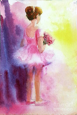 Painting - Her First Dance by Asha Sudhaker Shenoy