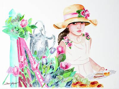 Her First Tea Party Art Print