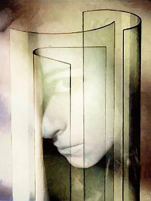 Her Glass Facade Art Print