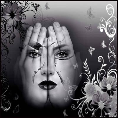 Digital Art - Her Hands by Kathy Kelly
