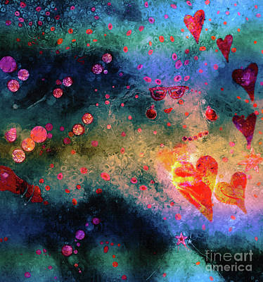 Wall Art - Painting - Her Heart Shines Through by Claire Bull