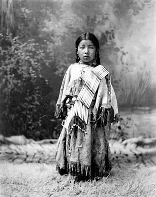 Dakota Painting - Her Know  Dakota Sioux by MotionAge Designs