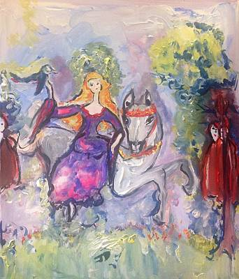 Painting - Her Lady Rides by Judith Desrosiers