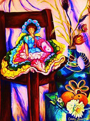 Painting - Her Little Parasol by Carole Spandau