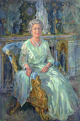 Silk Painting - Her Majesty The Queen by Susan Ryder