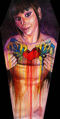 Coffin Painting - Her Middle Name Was Boom by Matt Truiano