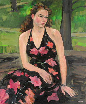 Painting - Her Mother's Dress by Robert Holden